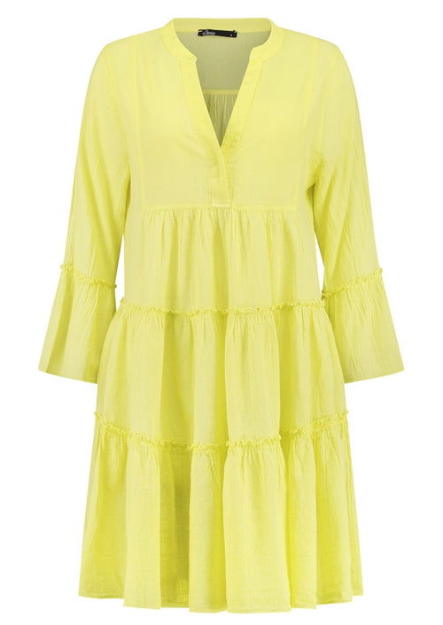 Ella Short Cotton Dress- Citron