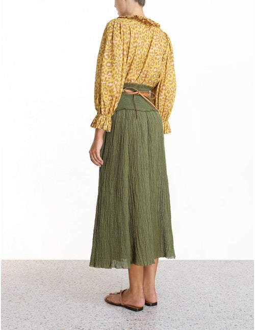 Empire Shirred Hip Skirt , ZIMMERMANN - Moda Boheme