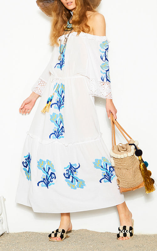 Noelle Dress - White