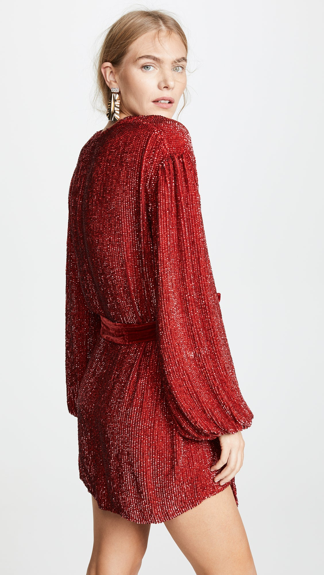 Gabrielle Sequined Dress - Red , RETROFÊTE - Moda Boheme