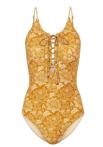 V-Neck One Piece - Farway Florals.
