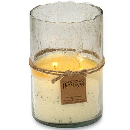 Clear Hurricane Candle - Forgotten Violet