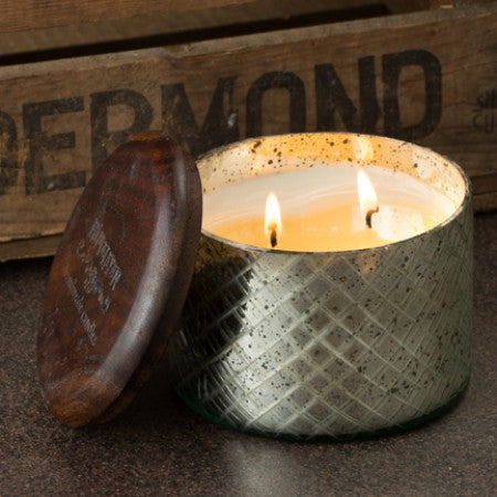 Dharamasala Brass Candle - Indian Sandalwood