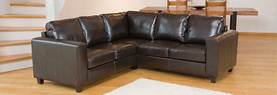 Beautiful compact Leather L Shaped Hard wearing Sofa NEW IN!! - EHomewares - 1
