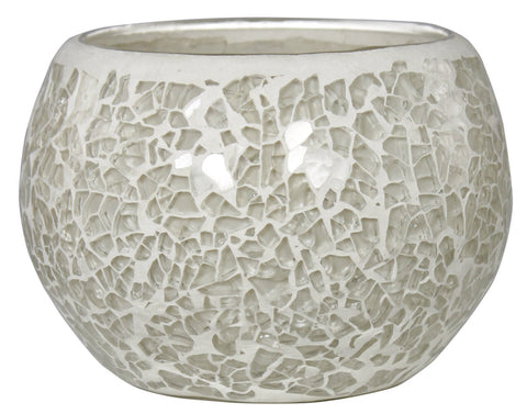 7cm Mosaic Tealight Holder Cream-EHomewares