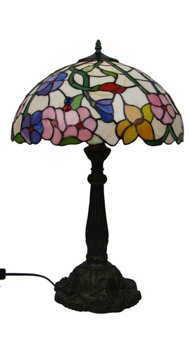 40cm Spring Flower Tiffany Table Lamp-EHomewares