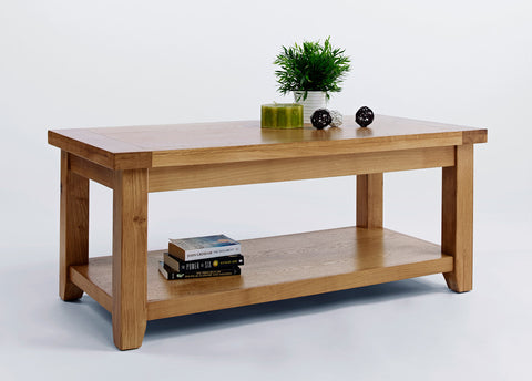 Devon Oak Large Coffee Table-EHomewares