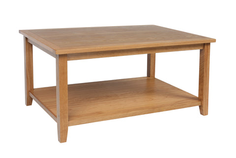 Croft Oak Coffee Table with Shelf (CroftOak Coffee Table with shelf)-EHomewares