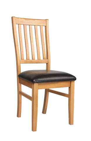 Croft Oak Dining Chair (pair) (CroftOak Dining Chairs (x2))-EHomewares