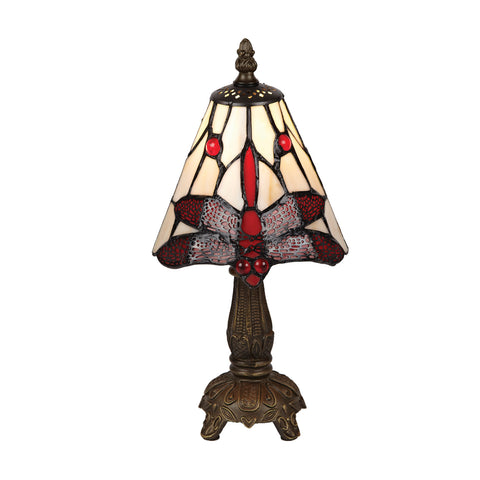 15cm Red Dragonfly Table Lamp-EHomewares