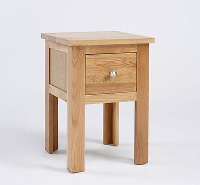 Bedside Tables & Cabinets - LANSDOWN OAK 1 DRAWER LAMP TABLE-SOLID OAK SIDE END BEDSIDE UNIT- NEW IN