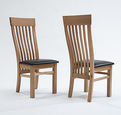 Chairs - 2 XSolid Wood Oak Farmhouse Country Modern Style Dining Chairs Kitchen Furniture