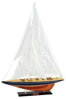 Decorative Ornaments & Figures - Beautiful Extra Large Ornamental Model 'Enterprise' Sail Boat