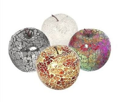 BEAUTIFUL Hand-made Mosaic Glass Apple Fruit (Black, Red, White, Multi or Mirrored - Perfect gift!!-EHomewares