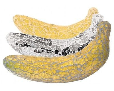 Beautiful Mosaic Crackle Glass Banana Fruit Ornament-EHomewares