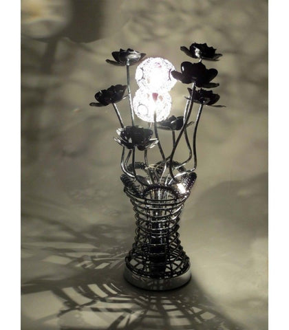 Lamps - Beautiful Black Table/ Desk Flower Basket Lamp