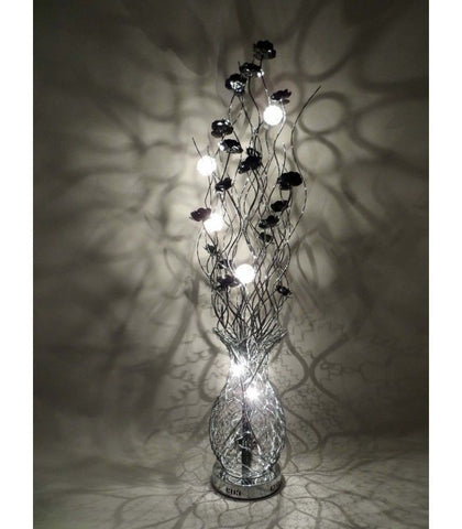 Lamps - Beautiful Large Base Tall Black Aluminium 160cm Flower Floor Lamp