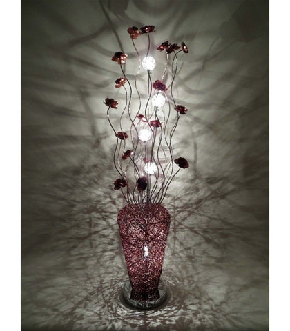 Lamps - Beautiful Large Tall All Coffee Aluminium 150cm Flower Floor Lamp - NEW!