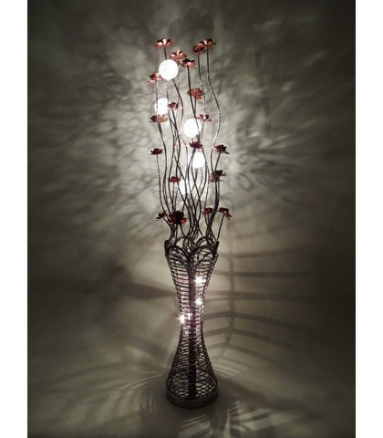 Lamps - Beautiful Large Tall Coffee Aluminium 160cm Flower Floor Lamp