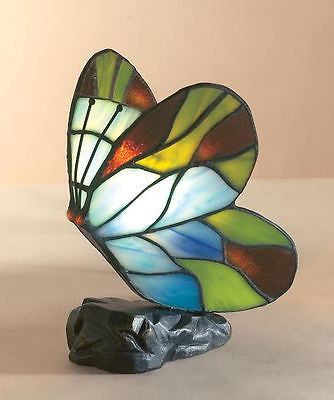 Lamps - Beautiful Tiffany Blue & Green Butterfly Table Lamp