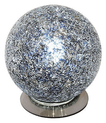 Lamps - Black Mosaic Crackle Glass Mosaic Sphere Ball Table Lamp Soft Mood Light