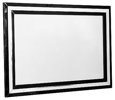 Mirrors - Beautiful Large Black Bevelled Frame Wall Mirror