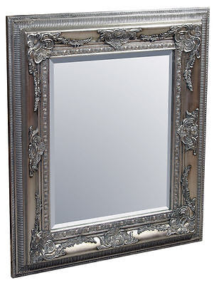 Mirrors - Beautiful Large Richard Wall Mirror Ornate Silver Frame