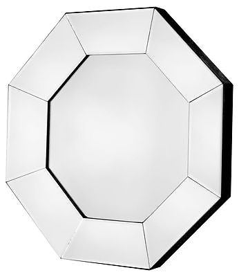Mirrors - Beautiful Octagon Wall Mirror With Bevelled Mirrored Frame