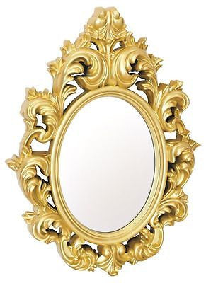 mirrors catherine lightweight ornate plastic high gloss frame gold wall mirror