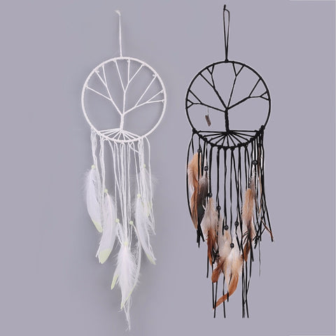 2 Colors Handmade Tree of Life Dream catcher Indoor Home Decorations Handmade Jewelry Crystal Pendant Ornaments - EHomewares