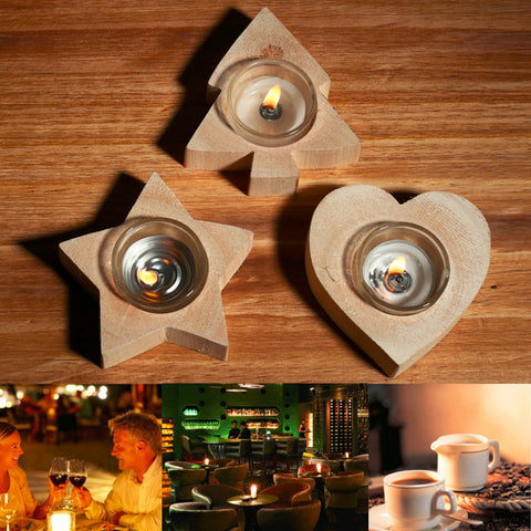 2016NEW Arrival 3 styles Wooden Candle Holder Wedding Home Decor Candlesticks Lover Romantic Vindicate Candlelight Dinner Props - EHomewares