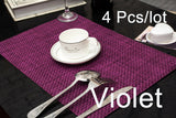 4 Pcs/lot weave Placemat fashion pvc dining table mat disc pads bowl pad coasters waterproof table cloth pad slip-resistant pad-EHomewares