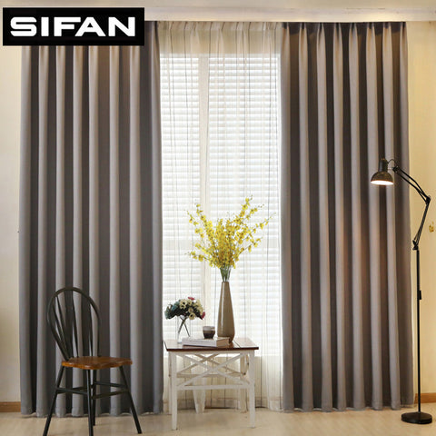 Solid Color Faux Linen Blackout Curtains for Living Room Modern Curtains for Bedroom Window Curtains kitchen Curtains Blinds-EHomewares