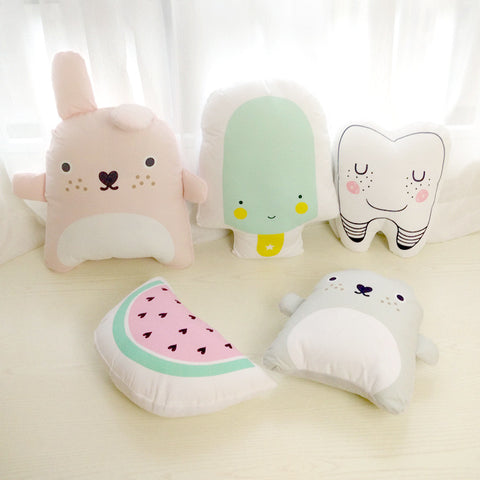 2016 New Kids Cushion Watermelon /Teeth /Chinchillas/ Ice cream Creative Children Gift Stuffed Home Decoration Pillow Cushions-EHomewares