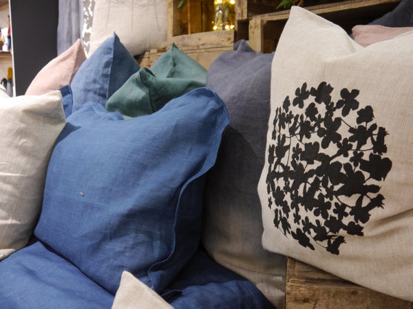 Linen Pillowcases - Indigo Blue