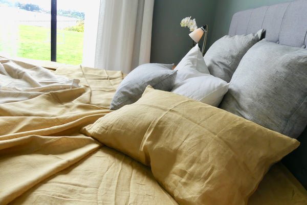 Linen Pillowcase - Ochre