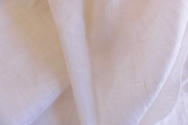 Fitted linen cot sheet - White