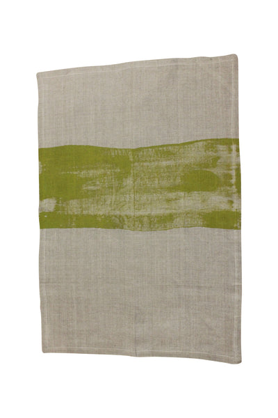 Linen tea towel | Mustard | Heart Ethical