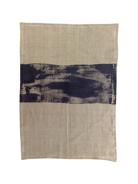 Linen tea towel | black | Heart Ethical