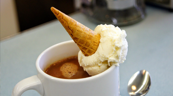 hot chocolate with ice cream in vancouver