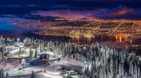 vancouver view from grouse mountain
