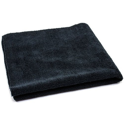 AutoFiber All Purpose Edgeless Microfibre Detailing Towel 40cm x 40cm 300 GSM Black