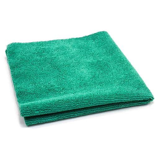 AutoFiber All Purpose Edgeless Microfibre Detailing Towel 40cm x 40cm 300 GSM Green
