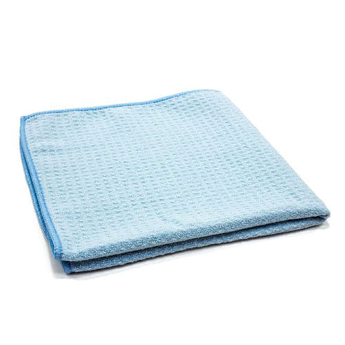 AutoFiber Waffle Weave Window and Glass Towel 40cm x 40cm 300 GSM Blue