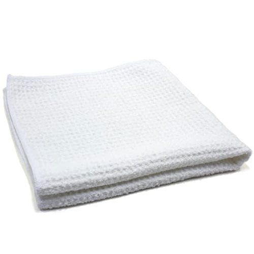 AutoFiber Waffle Weave Window and Glass Towel 40cm x 40cm 500 GSM White