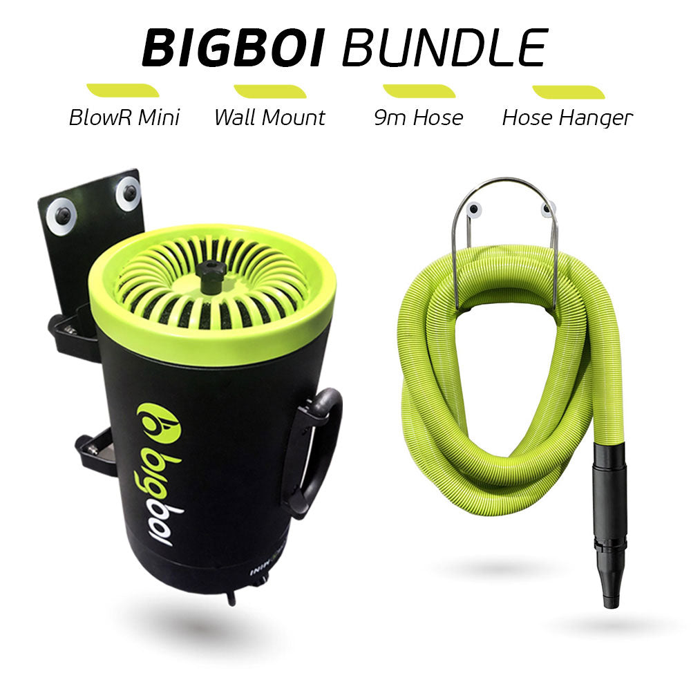 BigBoi BlowR Mini + Wall Mount + 9m Hose + Hanger Kit