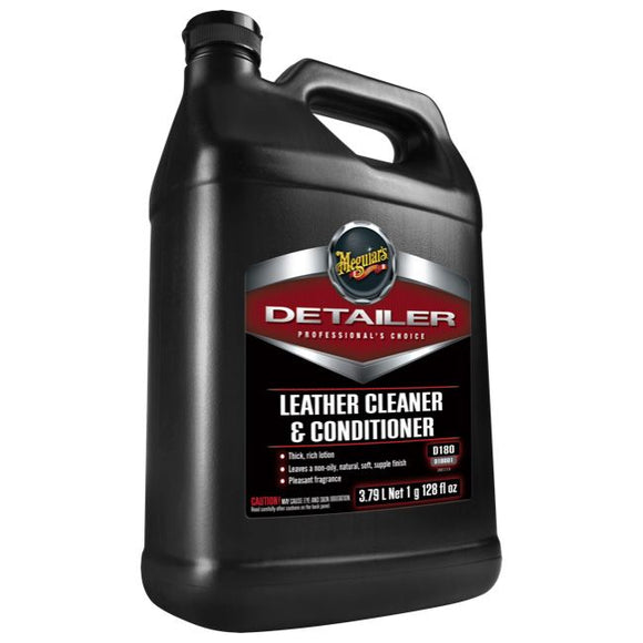 Meguiars Leather Cleaner & Cond., D18001, 3.8L (1Gal)