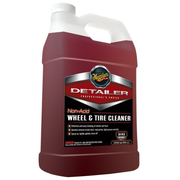 Meguiars Non Acid Wheel & Tyre Cleaner, D14301, 3.8 Litre (1 Gallon)
