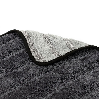 The Rag Company Gauntlet Hybrid Twist Drying Towel - Charcoal / Ice Grey 38x60cm