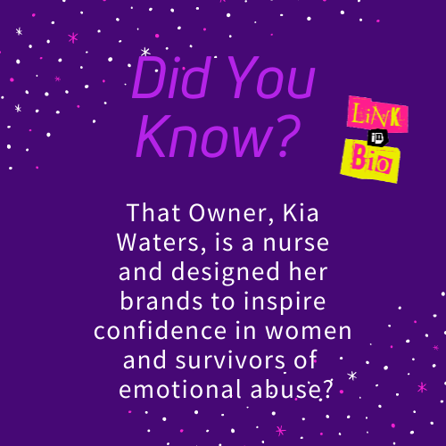 did you knw kia waters is a nurse earringeverything survivors of emotional abuse